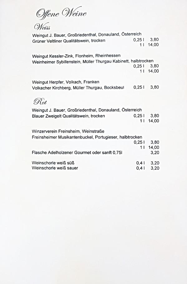 Wirtshaus Weber - Getränke